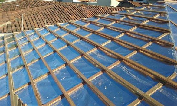 manta no telhado