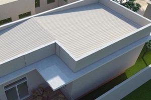 telhado embutido inclinado